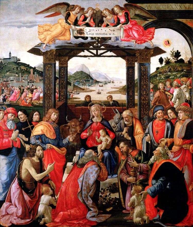 Поклонение волхвов   Доменико Гирландайо