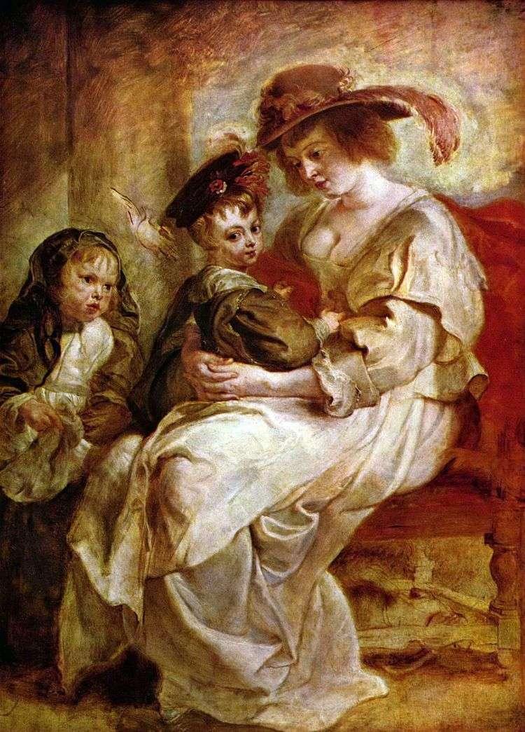 Елена Фоурмен с детьми Клер Жанной и Франсуа   Питер Рубенс