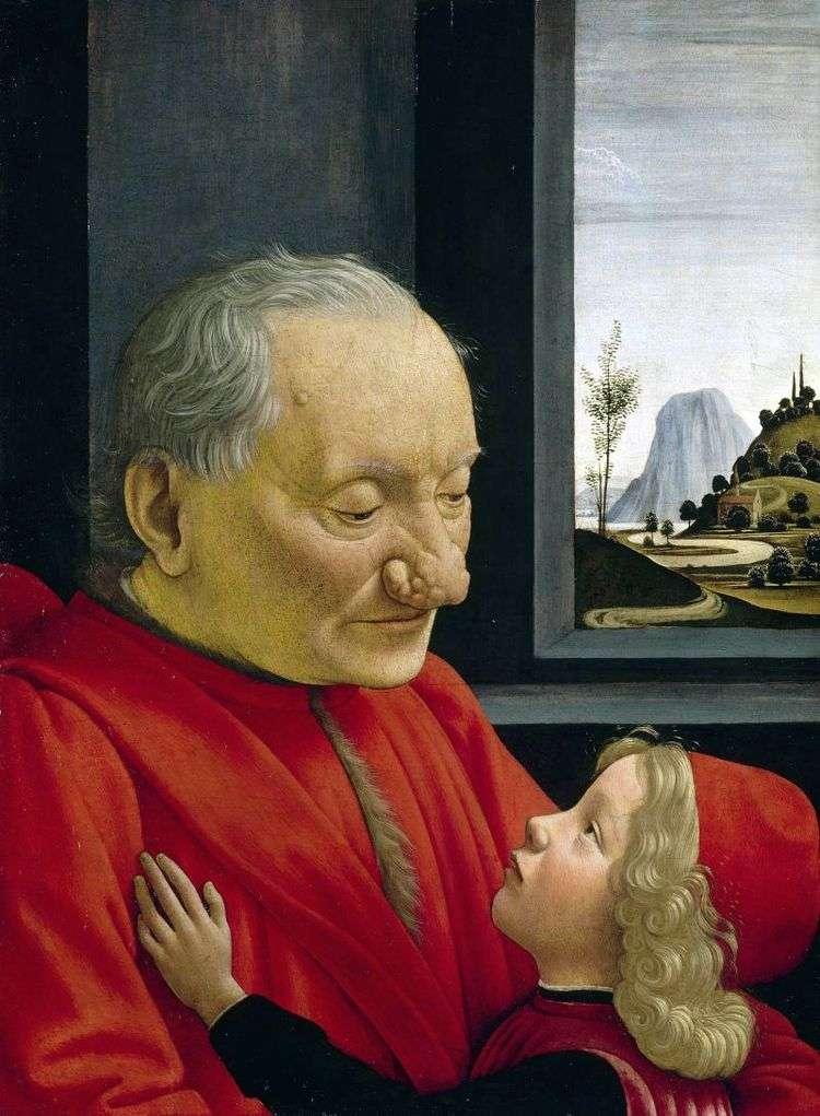 Портрет старика с внуком   Доменико Гирландайо