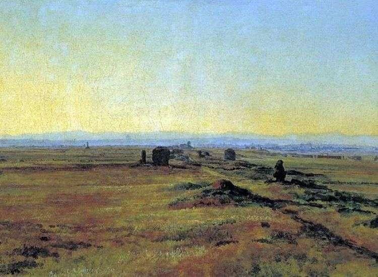 Аппиева дорога при закате солнца   Александр Иванов