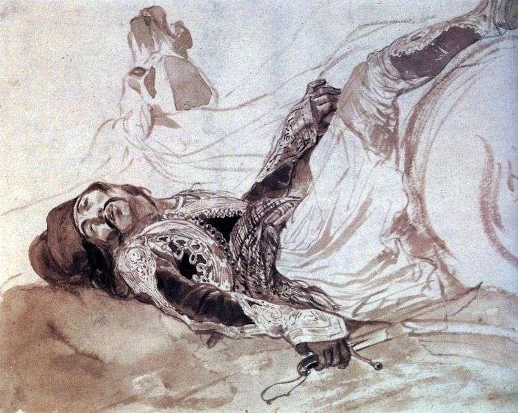Раненый грек, упавший с лошади   Карл Брюллов
