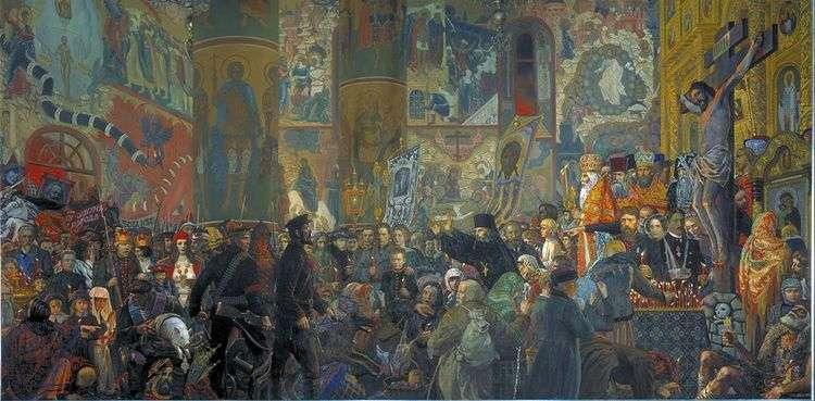 Разгром Храма в Пасхальную ночь   Илья Глазунов