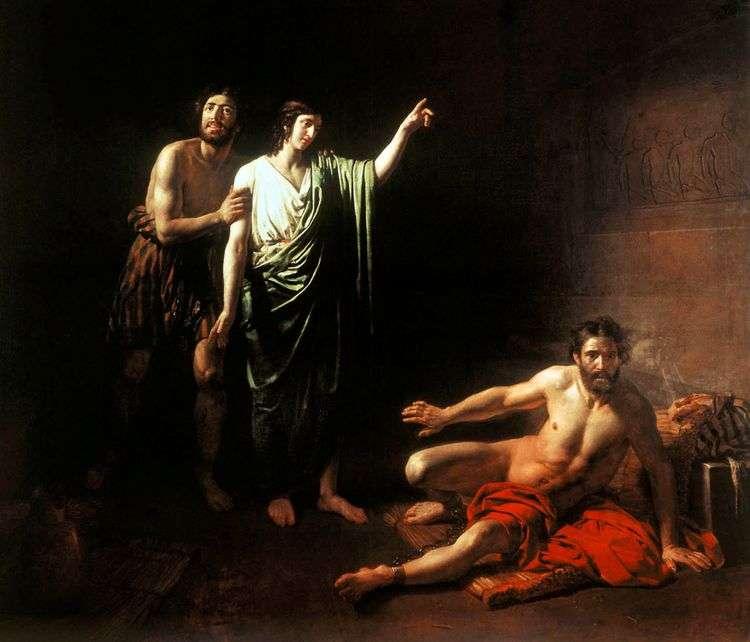 Иосиф, толкующий сны заключенным с ним в темнице виночерпию и хлебодару   Александр Иванов