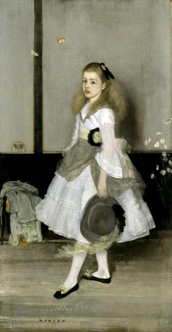 Гармония в сером и зеленом: портрет мисс Сесили Александер   Джеймс Уистлер