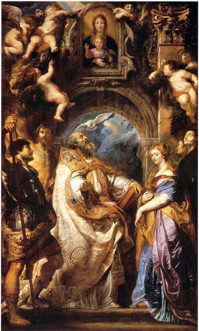Мадонна с Младенцем, Св. Григорием Великим и святыми   Питер Рубенс