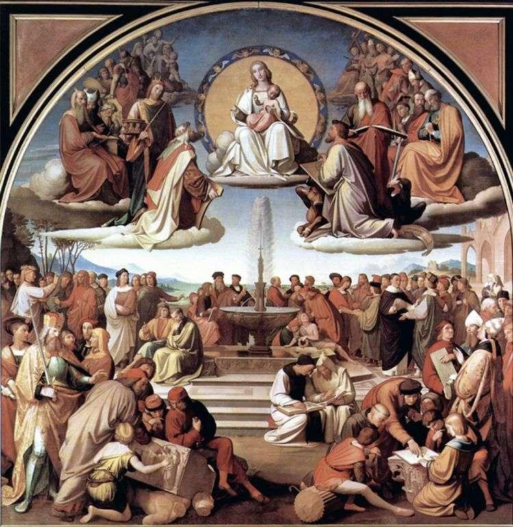 Триумф религии в искусствах   Иоганн Фридрих Овербек
