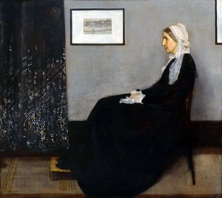 Аранжировка в сером и черном № 1: портрет матери   Джеймс Уистлер