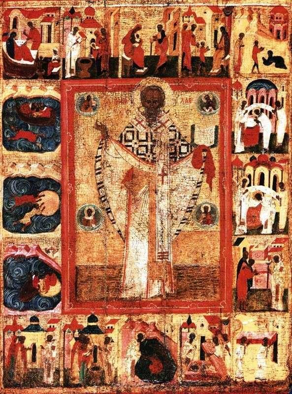 Святой Николай, с 16 клеймами жития