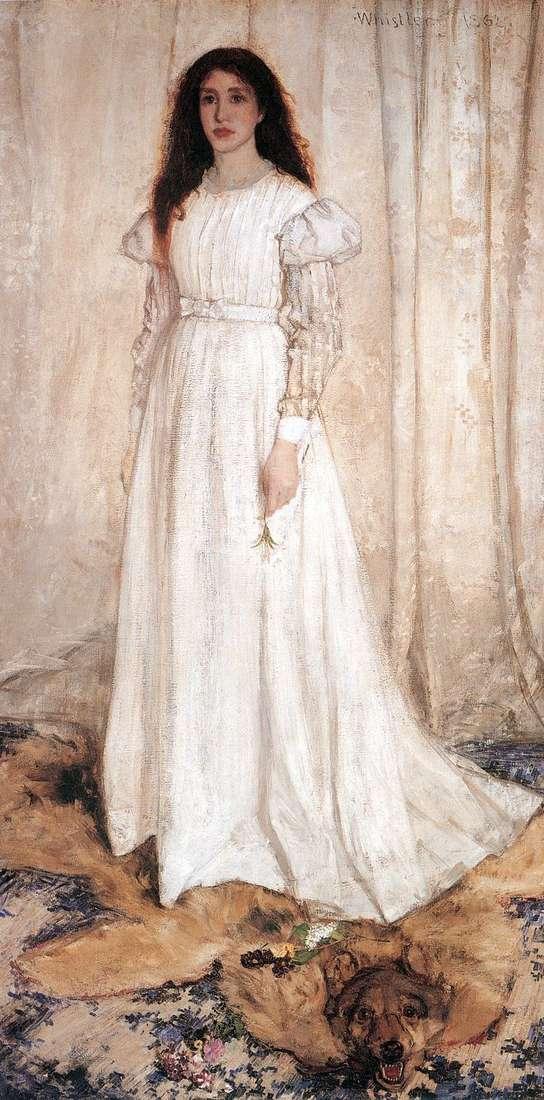 Симфония в белом № 1: девушка в белом   Джеймс Уистлер