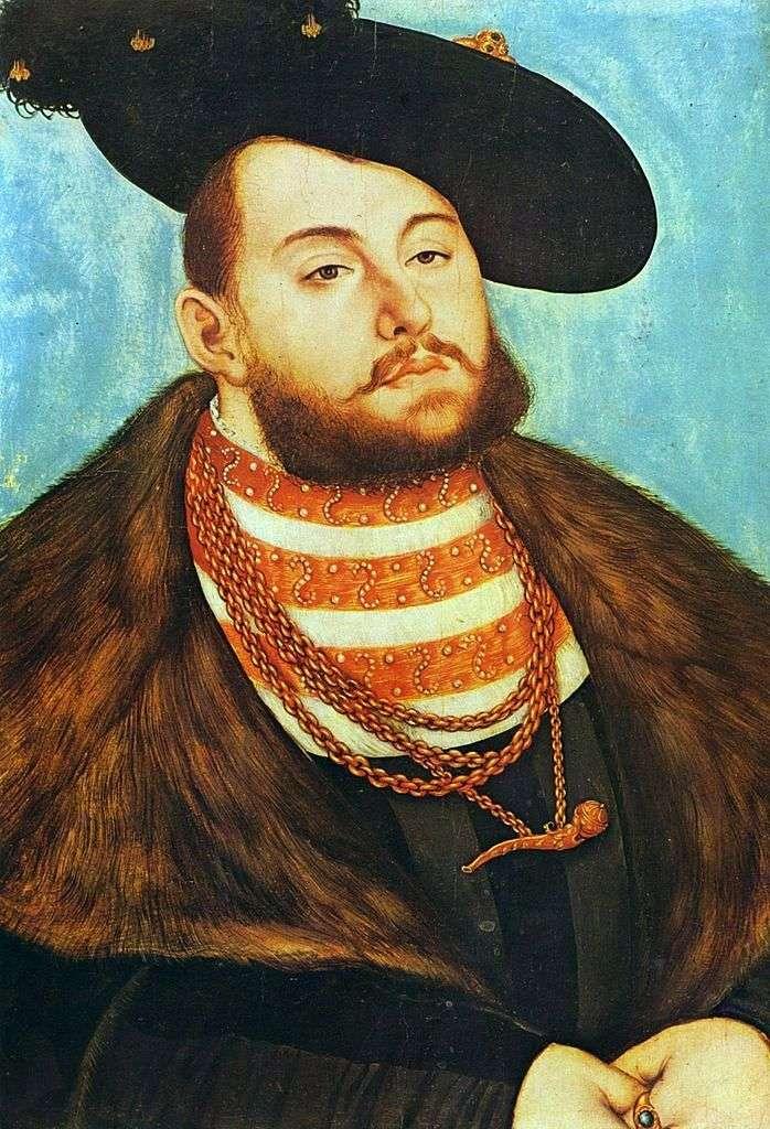 Портрет Иоганна Фридриха Великодушного   Лукас Кранах