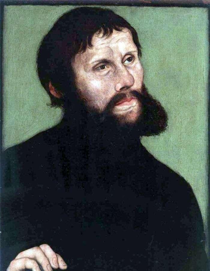 Портрет Мартина Лютера в образе рыцаря Йорга   Лукас Кранах