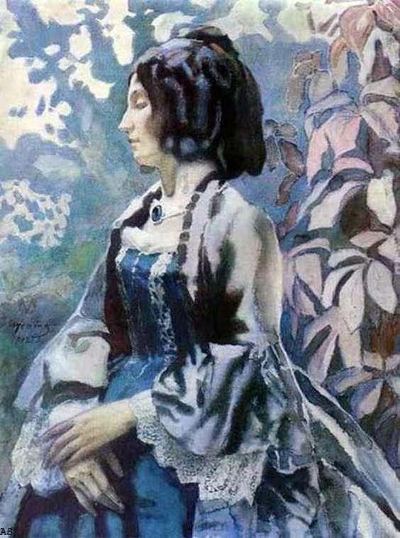 Дама в голубом   Виктор Борисов Мусатов