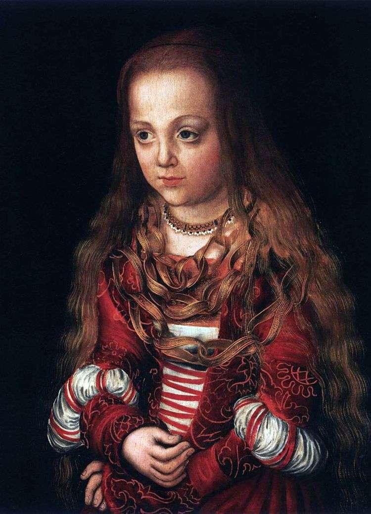 Портреты принца и принцессы   Лукас Кранах