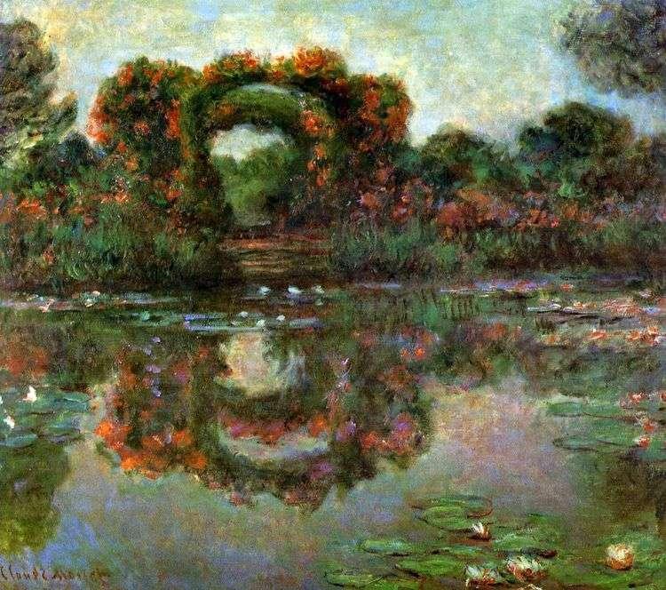 Арка в цветах, Живерни   Клод Моне
