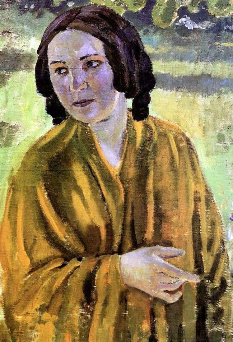 Девушка в желтой шали   Виктор Борисов Мусатов