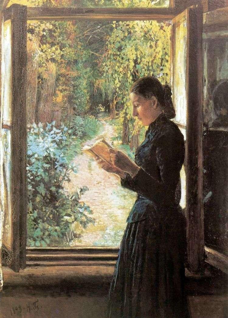 Портрет Н. И Петрункевич у открытого окна   Николай Ге