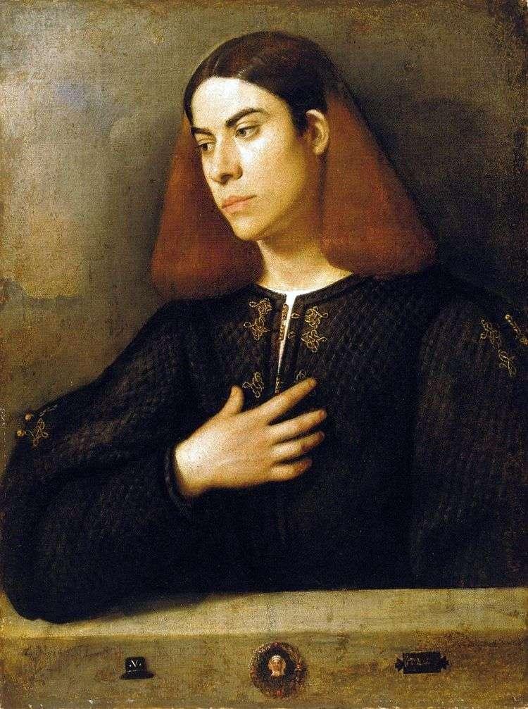 Портрет Антонио Броккардо   Джорджоне