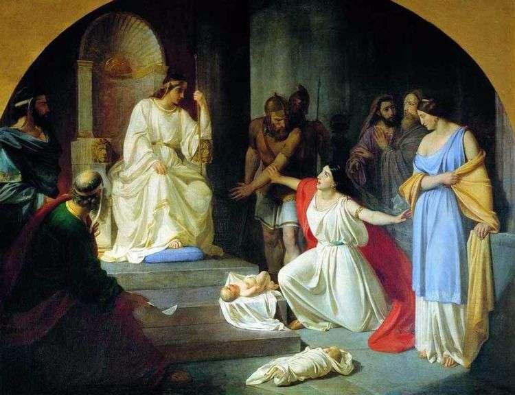 Суд царя Соломона   Николай Ге