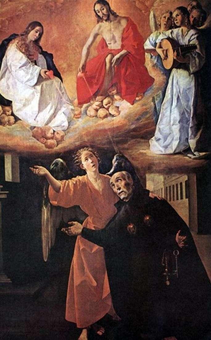 Видение св. Родригеса   Франсиско де Сурбаран