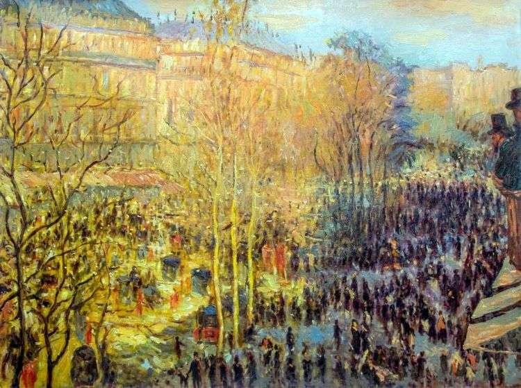 Бульвар Капуцинок в Париже   Клод Моне