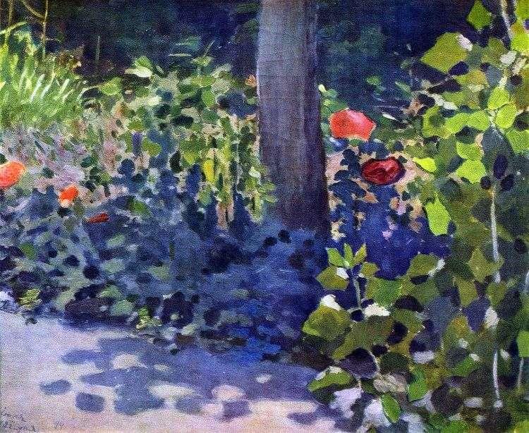 Маки в саду   Виктор Борисов Мусатов