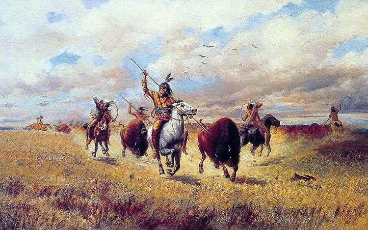 Охота на бизона   Чарльз Крейг