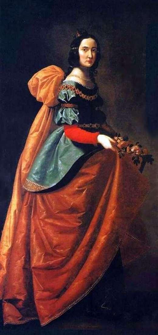 Св. Елизавета Венгерская   Франсиско де Сурбаран