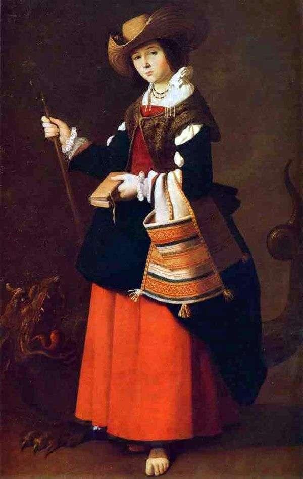 Святая Маргарита Антиохийская   Франсиско де Сурбаран