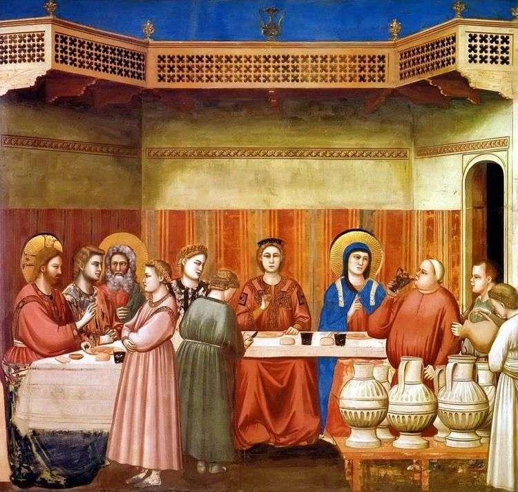 Брак в Кане Галилейской   Джотто