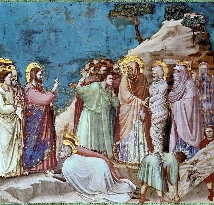 Воскрешение Лазаря   Джотто