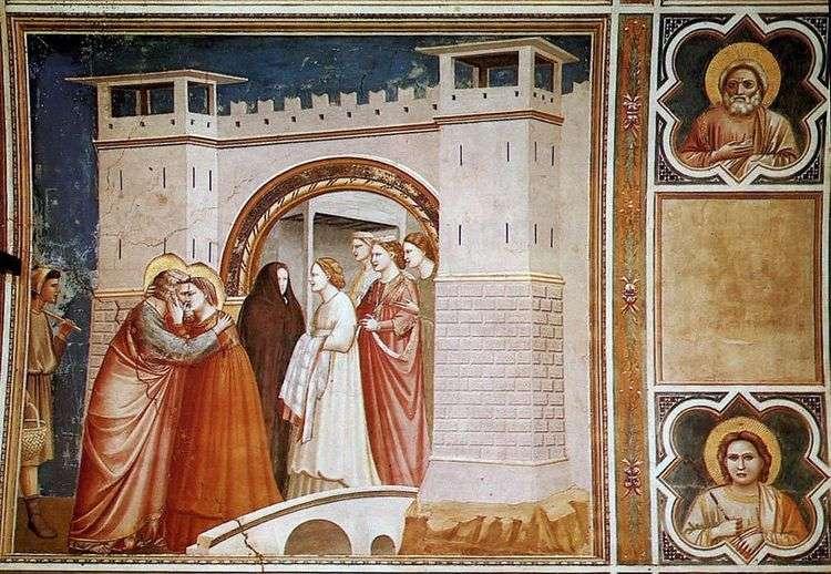 Встреча Анны с Иоакимом у Золотых ворот   Джотто