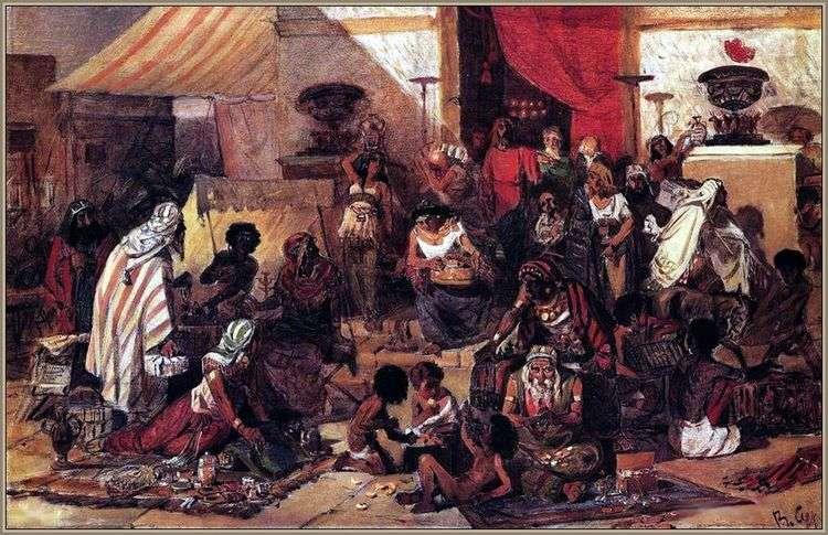 Изгнание торгующих из храма   Василий Суриков