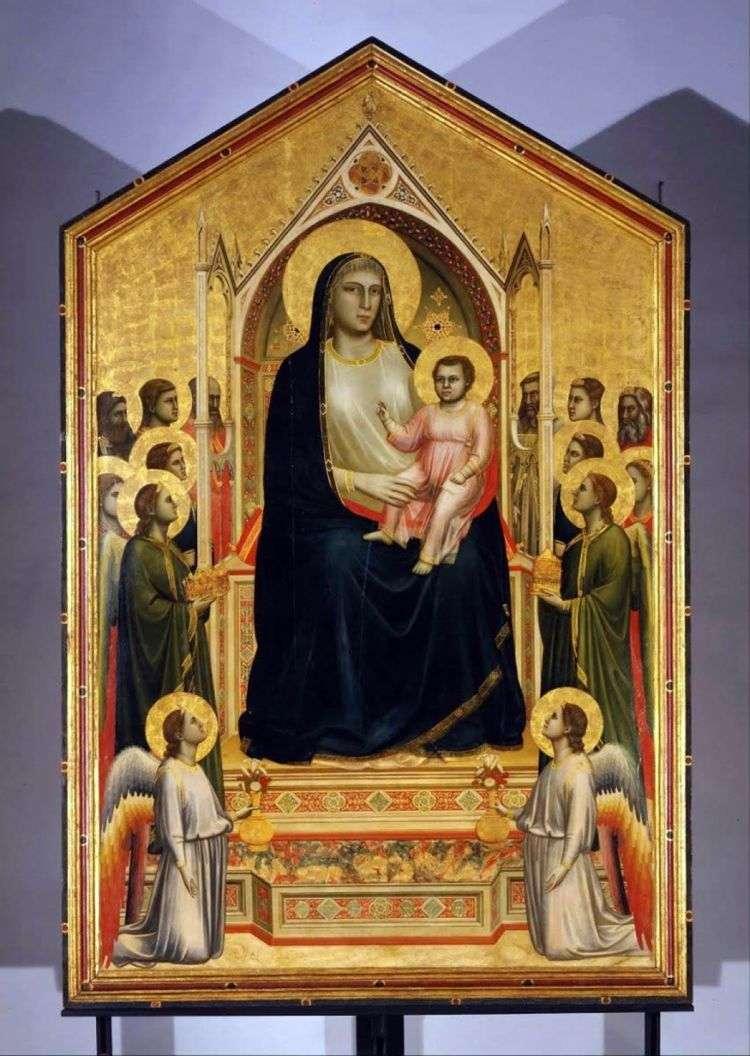 Мадонна с Младенцем и ангелами (Мадонна Оньисанти)   Джотто