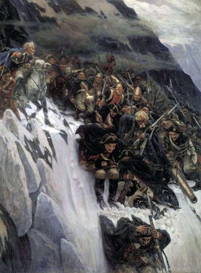Переход Суворова через Альпы   Василий Суриков
