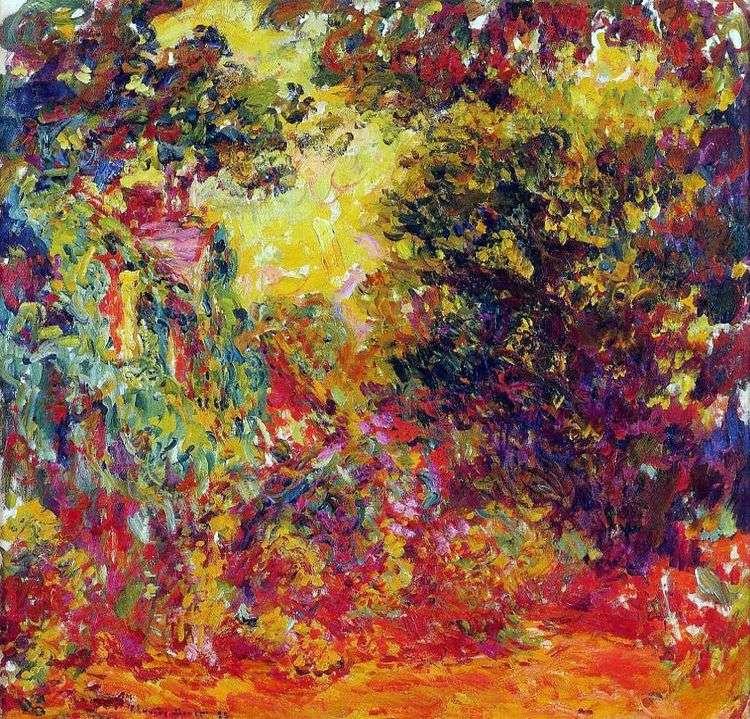 Дом художника, вид из розового сада   Клод Моне