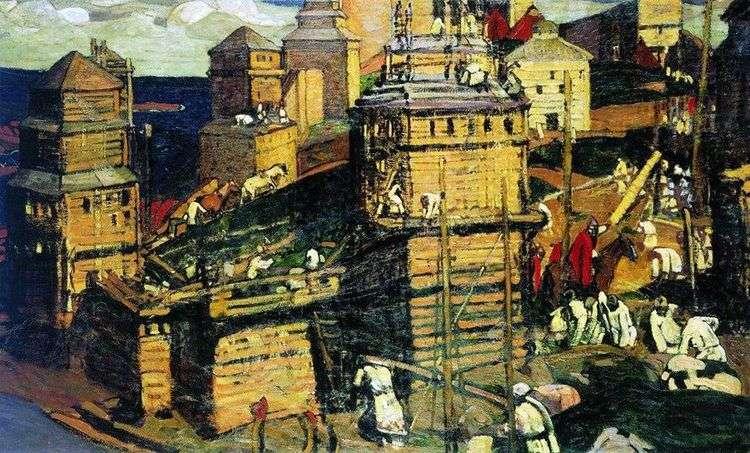 Город строят   Николай Рерих