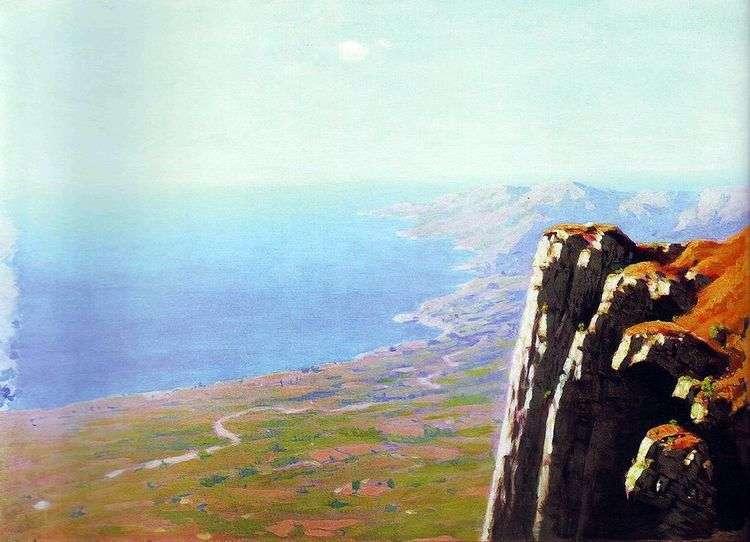 Берег моря со скалой   Архип Куинджи