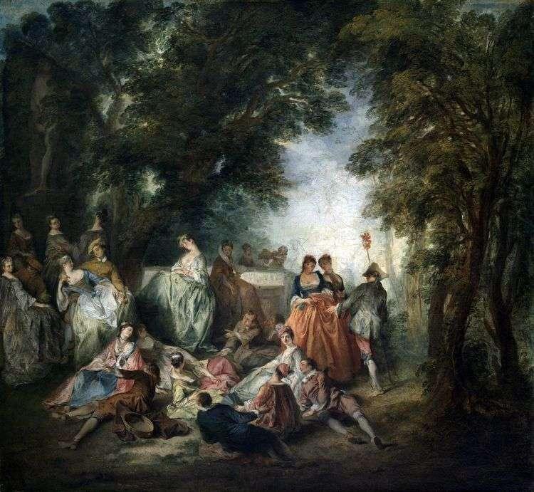 Общество в парке   Никола Ланкре