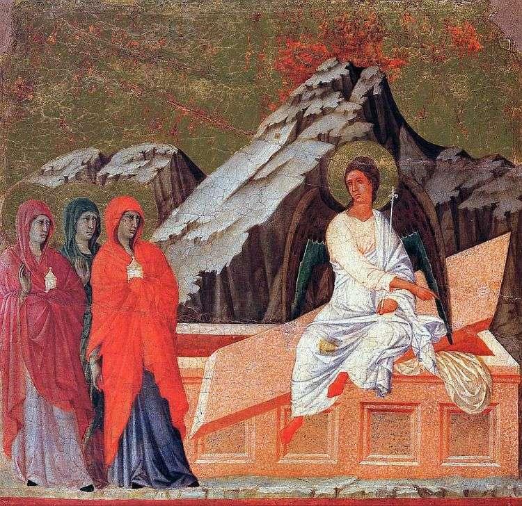 Жены мироносицы у гроба Господня   Дуччо ди Буонинсенья