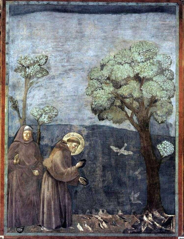 Проповедь птицам   Джотто
