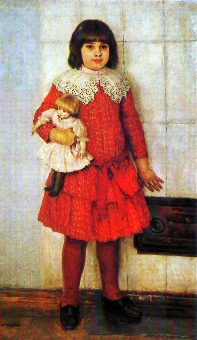 Портрет дочери Оли в детстве   Василий Суриков