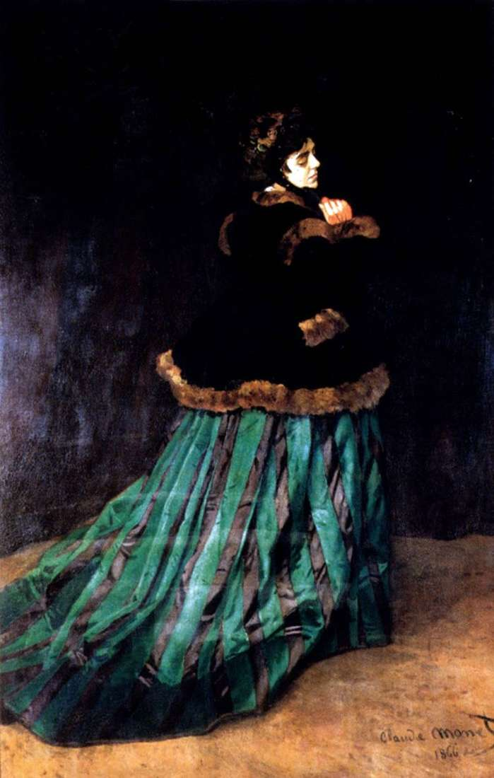 Женщина в зеленом платье   Клод Моне