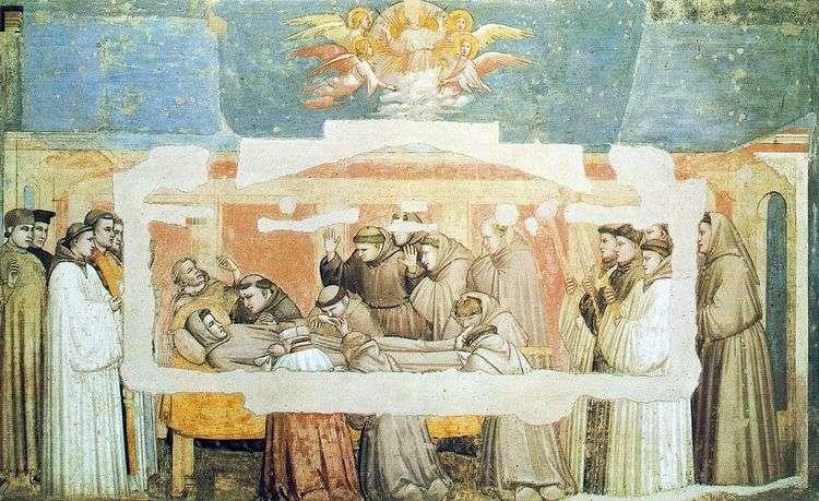 Смерть святого Франциска   Джотто