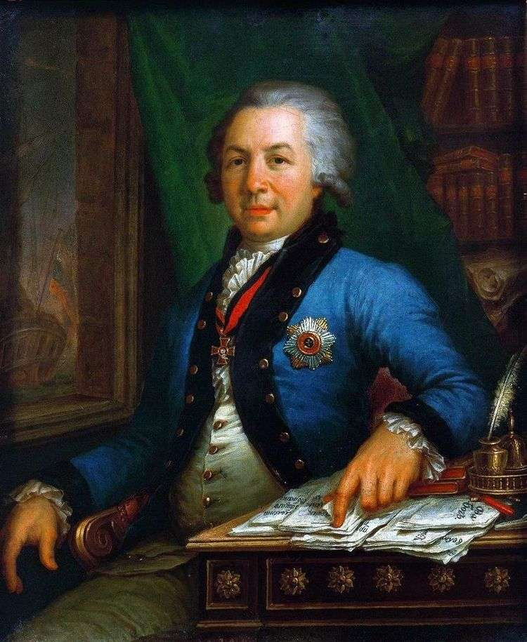 Портрет поэта Г. Р. Державина 1795   Владимир Боровиковский
