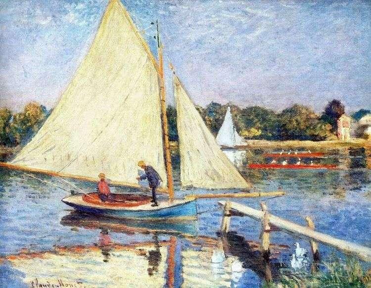 Лодки близ Аржантея   Клод Моне