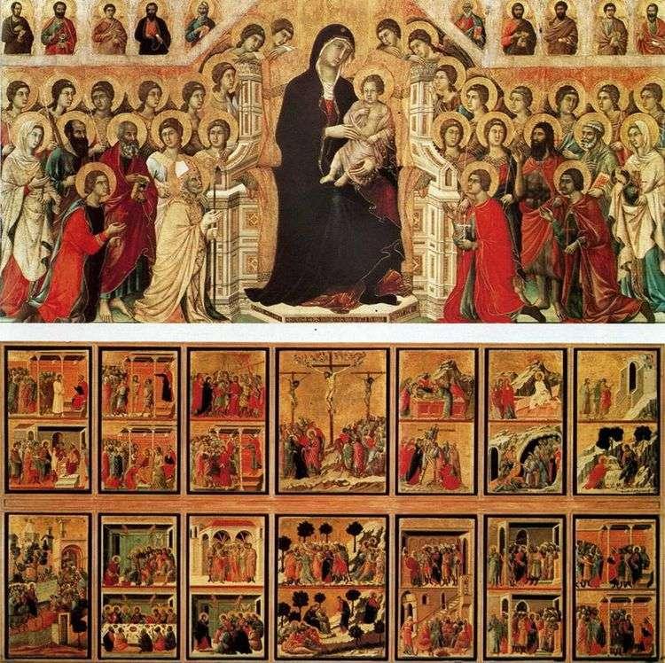Мадонна с ангелами и святыми (Маэста)   Дуччо ди Буонинсенья