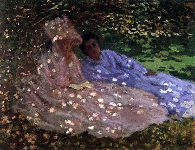Мадам Моне в саду   Клод Моне