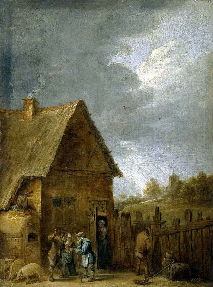 Двор крестьянского дома   Давид Тенирс