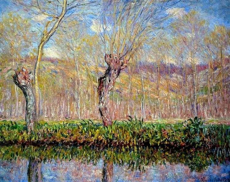 Отмели на реке весной   Клод Моне