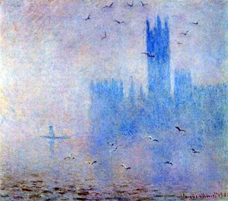 Парламент, сиреневый туман   Клод Моне